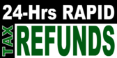 24 Hrs Rapid Tax Refund Black and Green