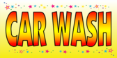 Simple Yellow Background With Car Wash Text Banner Design