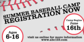 Summer Baseball Camp Baseball Background