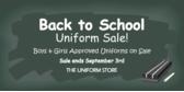 Children Back to School Uniform