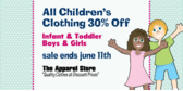 Children Clothing Sale Percent Off