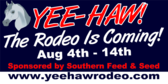 Yee Haw! The Rodeo is Coming!