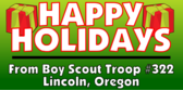 Happy Holidays From Boy Scout