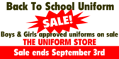 Back To School Uniform Sale!