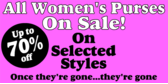 All women's purses on sale!