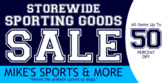 Sporting Goods Store Wide Sale