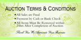 Auction Terms