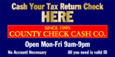 Cash Your Tax Return