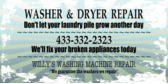 Repair Washer Dryer