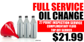 Full Service Oil Change 27 point