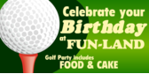 Putt Putt Golf Birthday