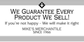Business Guarantee Every Product