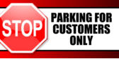 Business Parking Cust Only