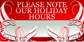 Holiday Hours Make Note