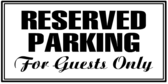 Parking Reserved Guests