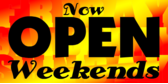 Open Weekends Flame Days of Week