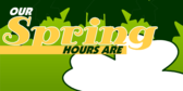 Seasonal Hours Spring
