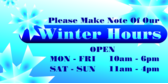 Winter Hours Snowflake