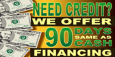 90 Days Same as Cash Credit Offer
