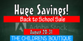 Store Back to School Sale B