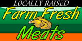 Locally raised farm meat