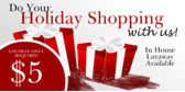 Layaway Available Holiday Shopping
