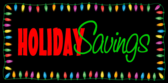 Store Holiday Savings