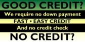 No Credit Check Questions