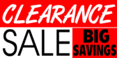 Store Clearance Sale