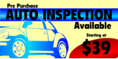 Auto Inspection Pre Purchase