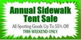 Store Sidewalk Tent Sale
