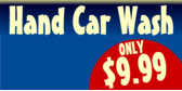 Hand Car Wash Blue with Circle