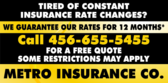 Tired of constant insurance rate