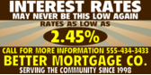Interest Rates May Never be