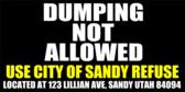 Dumping NOT allowed