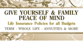 Insurance Life Peace of Mind