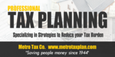 Tax Prep CPA Services Signs