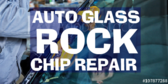 Auto Glass Rock Chip Repair Blue Glass