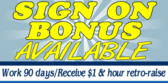 Sign on Bonus Available