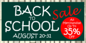 Back to School Sale Chalkboard