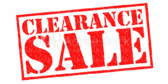 Clearance Sale Now
