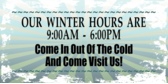 Store Hours Winter