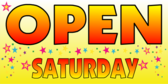 Open Saturday Yellow Stars
