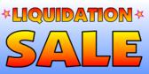 Liquidation Sale Blue