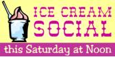 church ice cream social signs