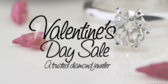 Valentine's Day Diamond Sale Banner