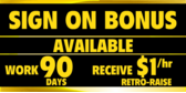 Sign On Bonus Retro Raise