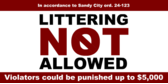 Local Ordinance No Littering Verboten O
