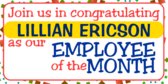 Employee Of the MonthHelp Us Congratulate