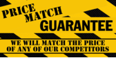 Price Match Guarantee Caution